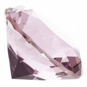 Geen Roze nep diamant 5 cm van glas
