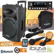 Ibiza Colunas Amplificadas Ibiza PORT8UHF-BT B-Stock
