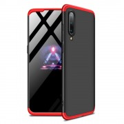 GKK 360 Protection telefon tok hátlap tok Első és hátsó tok telefon tok hátlap az egész testet fedő Xiaomi Mi 9 fekete-piros
