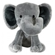 KINREX Elephant Plush - Stuffed Animal - Plush Toys For Kids - Measures 9 Inches - Grey Color