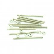 Set 10 Șuruburi M2 cu Lungime de 25 mm și cu Piuliță