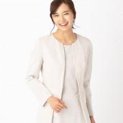 【SALE 10%OFF】コムサイズム COMME CA ISM ノーカラージャケット〔セットアップ対応商品〕 (ベージュ)