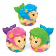 Baker Ross Mermaid Water Squirters - 8 Small Bath Toys. Funny Bath Squirters. Mermaid Party Bag Fillers. Size 7cm.