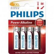 Алкални батерии Philips Power Alkaline батерия LR6 AA, 4-blister - LR6P4B/10