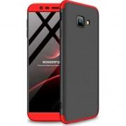 Husa telefon hurtel 360 Capac de protectie pentru intreaga carcasa fata + spate J4 Samsung Galaxy Plus 2018 J415 negru-rosu universal