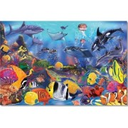 Puzzle de podea Viata subacvatica Melissa and Doug