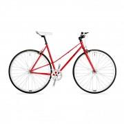 Csepel Royal 3* női fixi kerékpár Piros