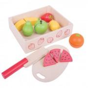 Set fructe feliate, 7 fructe, 18 x 14.5 x 5 cm