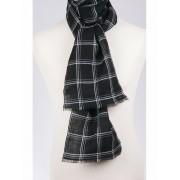 zwart-wit geruite linnen sjaal