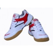 Firefly White & Red Excel Badminton Shoes(White)