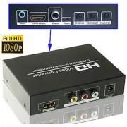 AV HDMI to HDMI Converter with Pal Ntsc Function