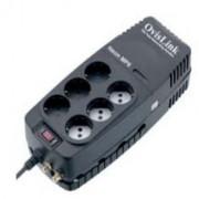 Regulador de Voltaje Neon 2000va 6 Schuko Ovislink
