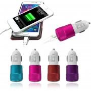 EH Cargador Del Coche Púrpura Ojales Dual USB-púrpura