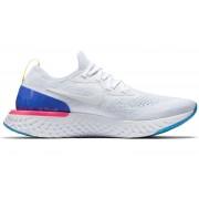 Nike Epic React Flyknit - scarpe running neutre - uomo - White/Blue