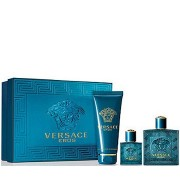 Gianni Versace Eros 50ml Apă De Toaletă + 50ml After Shave Balsam + 50ml Gel de duș Set