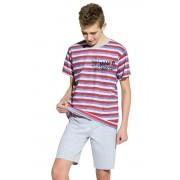 Max fiú pamut pizsama, csíkos 152
