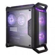 Кутия CoolerMaster MasterBox Q300P RGB, micro ATX/mini-ITX, 2x USB 3.0, прозорец, черна, без захранване