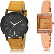 The Shopoholic Black Rose Gold Combo Latest Fashionable Black And Rose Gold Dial Analog Watch For Boys And Girls Watch For Man Stylish