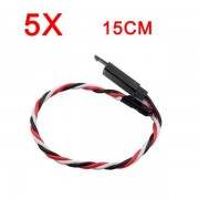 5X Amass 60 Core 15cm Anti-off Servo Extension Wire Cable For Futaba