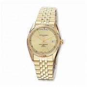viStar Mens Charles Hubert Gold-Plated Champagne Dial reloj, última intervensión de Mejor Calidad Caja de Regalo