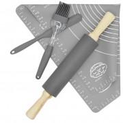 Stolnica silikonowa + wałek + nożyk + pędzelek