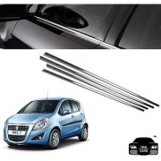 Trigcars Maruti Suzuki Ritz New Car Window Lower Garnish Chrome