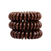 InvisiboBBle The Traceless Hair Ring gumice za kosu 3 kom nijansa Pretzel Brown