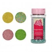 Cake Supplies Sprinkles de perlas de colores metalizados de 80 g - FunCakes - Color Dorado