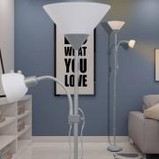 vidaXL лампион, сив
