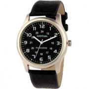 Invader INV-IWC-BLKBLK Premium leather strap mens watch