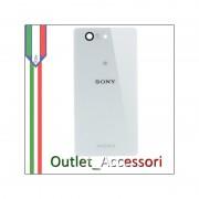 Copribatteria Cover Vetro Sony Xperia Z3 Compact Mini D5803 Bianco Bianca