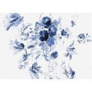 KEK Amsterdam Royal Blue Flowers III behang (8 banen)