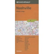 Folded Map Nashville TN Street, Paperback/Rand McNally