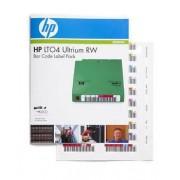 HPE Ultrium 4 RW Bar Code Label Pack - Streckkodsetiketter - för