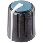 Buton rotativ Flexifit, Ø ax 7,5 mm, negru, tip F 313 S 092
