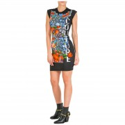 Versace Jeans Couture Vestito abito donna corto miniabito manica corta optical flowers