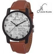 Jack Klein Brown Strap White Dial Analog Wrist Watch