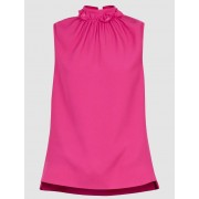 Ted Baker Ruffle neck sleeveless top pink