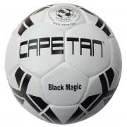 Bőr futball labda Capetan Black Magic No.5, fekete-fehér szabvány méretű klaszikus focilabda