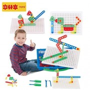 Educational Toys Kit of Screws By ETI Toys for Boys and Girls 92 Piece set for building Engineering designs Great for Learning Developing and Having Fun. Engineer your design Today