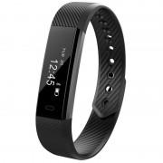 Bratara fitness smart RegalSmart HR-166 BT 4.0, rezistenta la apa IP67, ritm cardiac, pedometru, remote camera, notificari, Android, iOS, vibratii, negru