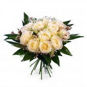 Interflora 12 Rosas Brancas de Pé Curto Interflora