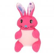 Merkloos Pluche konijn/paashaas knuffel roze 23 cm