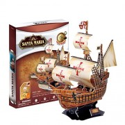 Qiyun Santa Maria Ship Pilgrimage To The United States 3 D Puzzle. Home/Office Decoration