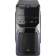 Caixa AEROCOOL QS-183 ADVANCE MICRO-ATX 2XUSB3.0, SD CARD READER, 1X80MM FAN Blue - QS183ADBL
