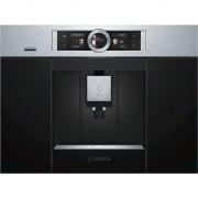 Espressor incorporabil Bosch CTL636ES6, 1600 W, 19 bar, Display TFT, Negru-Arginitiu