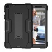 Tåligt Skyddsfodral med ställ Samsung Galaxy Tab A 8.0 - Svart