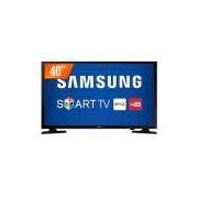 Smart TV LED 40' Samsung Full HD 2 HDMI 1 USB Wi-Fi Integrado Conversor Digital UN40J5200
