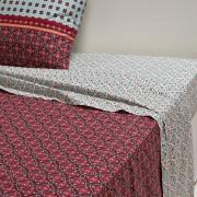 La Redoute Interieurs Lençol en puro algodão, EuzalieAzul/Vermelho/Laranja- 270 x 290 cm