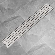 """vidaXL Линеен душ канал, дизайн """"линии"""", 730x140мм, неръждаема стомана"""